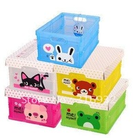 F1 Free shipping , foldable storage collecting box Container Organizer, 5 styles to select