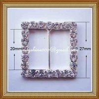 20mm inner bar square rhinestone buckle for wedding invitation card