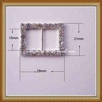 15mm inner bar rectangular rhinestone buckle for wedding invitation