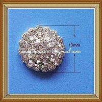 13mm diameter meal rhinestone embellishment without loop