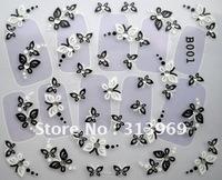 wholesale new arrival 48 styles B serial fashion Nail Art seal 3D nail sticker nail art sticker 500pcs/lot