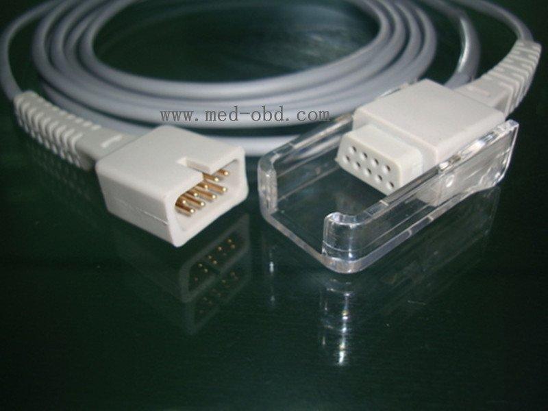 Nellcor spo2 extension cable DB9 connect DB9 Non-oximax P0219h(China (Mainland))
