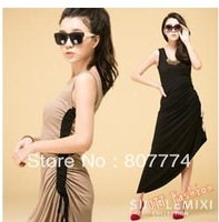 Вечернее платье New Womens round neck party dress empire above knee dress +quality guarantee