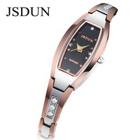 JSDUN Luxury Women Dress Rhinestone Watches Fahion Tungsten Steel CZ Diamond Quartz Watch Relogios Feminino Wristwatch  6530
