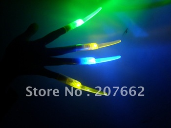 free shipping 360pcs/lot 4color10*1.5cm led nail finger light flashing led finger light finger lamp for wedding favors and gifts