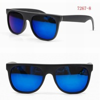 2012 Newest Unisex Sunglass Fashion Eyewear Plastic Eyeglasses wiht High Quality  Blue Mirror Lens with UV400 Protection 7267-8