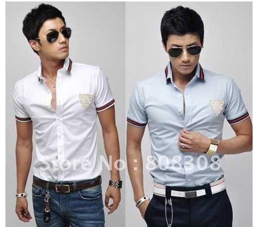 Mens short sleeve slim fit shirts is shirt for Dress shirt fitted vs slim