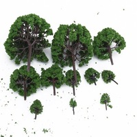 110pcs 1.4 inch - 6.3 inch Green Train Set Scenery Landscape Model Tree - Scale 1/50