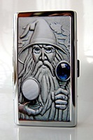 Stainless steel cigarette case 14 branch extended------Male magician token