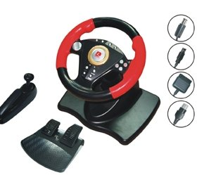 Free Shipping 180 Circumgyration Game Racing Wheel (PB3808 Hot Sale )(China (Mainland))