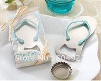 Free shipping of 20pcs/lot Wedding Favor--Flip-Flop Bottle Opener