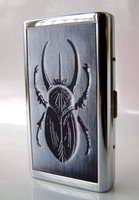 Stainless steel cigarette case 14 branch extended------Beetle reptiles