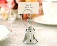 Wedding favors Top quality Factory directly sale  Silver Bell placecard holders 20pcs/lot