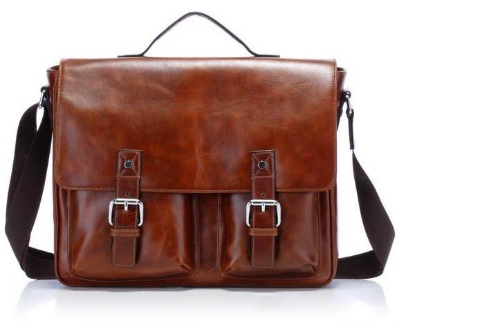 Leather Shoulder Bag Man 117