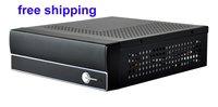 mini itx M/B 12V/5A adapter and 120W DC board USB 2.0 port & Audio I/O port htpc case computer case