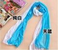 FHT mixed color scarves elegnant gauze fabric long scarf woman's wraps 50pcs mixeD Hot sale FGRT