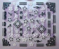 wholesale new arrival 24 styles XF serial fashion Nail Art seal 3D nail sticker nail art sticker 500pcs/lot