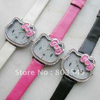 200pcs/lot  Free Shipping Hellokitty watch Fashion watches Quartz watch Kid's Hello Kitty Watches for Ladies watch women watch