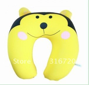 Free Shipping U-Shape Lycra Cartoon Neck Pillow Traveling Pillow Lovely Monkey Neck Cushion