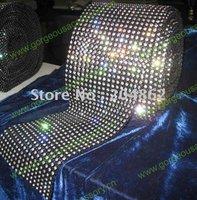Free Shipping 18 Rows Fashion Rhinestone Mesh Trim with SS16 C