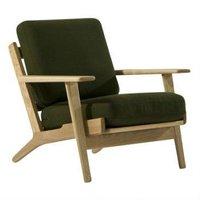 Hans J Wegner Style GE 290 Armchair / plank chair