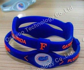 2012 free shipping US Football silicone bracelet bands Florida Gators sports bracelet NCAA bracelets