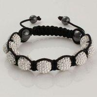 2012 Hot! New Arrival!!!DIY Wolf Shamballa Bracelet Golden Color,Handmade Shamballa Animal DIY 10mm CZ Crystal Beads