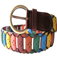 lady cattle leather dress belts,braided leather belts,western cow leather braided belts, genuine leather belts