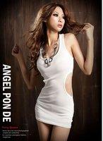 продаете женщин леопарда кружева Винтаж туника с длинным рукавом тонкий сексуальное платье