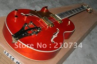 Wholesale -Hot musical instruments custom shop left hand jazz ES-335, brake rod orange electric guitar