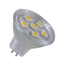MR11  Warm White LED Blub 6 SMD 5050 LED Energy saving Bulb Lamp