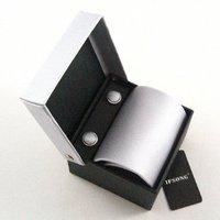 Elegant assembling a silver tie box set