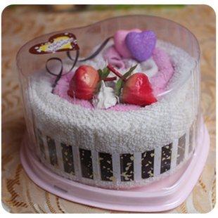 Cake Towel Wedding Favor Gift tide brand be wild with joy superb cake gift  hot selling 2pcs/lot