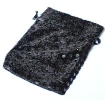 Black satin drawstring bags 3.5inchX5inch organza bags jewelry pouches wedding gift bag