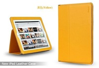 Original 100% Genuine Leather YOOBAO Ultrathin Business Case for New iPad 3,With Smart Cover Feature and Packaging,Free Shipping