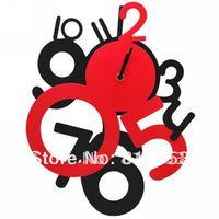 Guaranteed 100% Free Shipping Fashion Digital Wall Clock, Home Decoration wall clock Retail Lc13050501