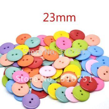 Горячая распродажа новое поступление кнопки 100 шт. случайно смешали 2 отверстия смолаы швейные кнопки 23 мм диаметр. Knopf Bouton ( w01372 X 1 ) а . а .