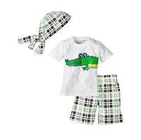 Wholesale 2012  (Turban+short shirt+pants ) 3pcs Monkey Baby suit Baby Clothes Set Y033