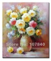 Free shipping!!High Quality Unique 100% original hand-painted flower oil painting 012