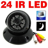 "2pcs 24 LED IR Night Vision indoor Dome Color CCTV Camera, 1/3"" CMOS lens, Color Video with Voice (P/N69 XM)"