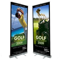 Roll up banner stand tradeshow  with Free  printing ,5-7days shipping to your home
