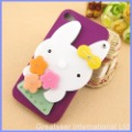 Stylish Bling Cute Rabbit Mirror Doll Hard Cases Covers For iPhone4 4G 4S #7205