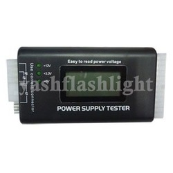 free shipping PC LCD Power Supply Tester 20/24 Pin PSU ATX SATA HDD 1PCS(China (Mainland))