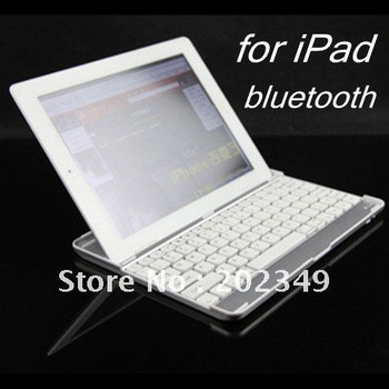 Free shipping! Mini Ultra Slim Aluminium Bluetooth Keyboard for ipad2 ipad 2
