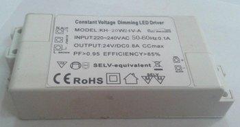 20W TRIAC Dimming Constant voltage LED Driver;AC180V-250V/AC95V-140V;12V/24V/36V/48V output;please advise