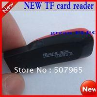 Free shipping! whistle card reader latest version USB 2.0 MicroSD T-Flash TF Memory Card Reader USB 2.0 micro sd card reader