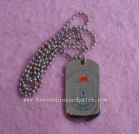 High polish dog tag