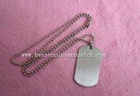 Custom stainless steel, blank tag, blank metal dog tag