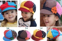 2012 NEWEST kids baseball cap/children cotton sun hat / can mix +EMS/DHL/FEDEX free shipping