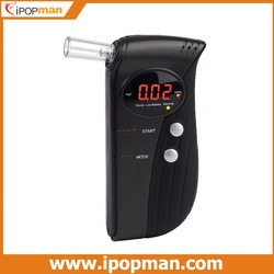 Patented Alcohol Tester Breathalyzer alcohol detector with retractable breath pipe, 3 Digits LCD Display &amp; 6 mouthpiece(China (Mainland))
